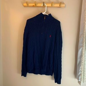 Navy Blue Polo Sweater